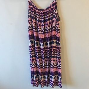 Pink and blue elephant dress/ cover up